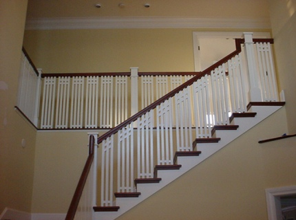 Modern Wood Handrails with Balusters